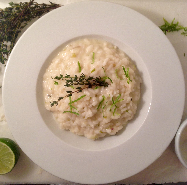 Risotto al Lime, Yogurt di Capra e Timo - lime and goat milk yogurt risotto