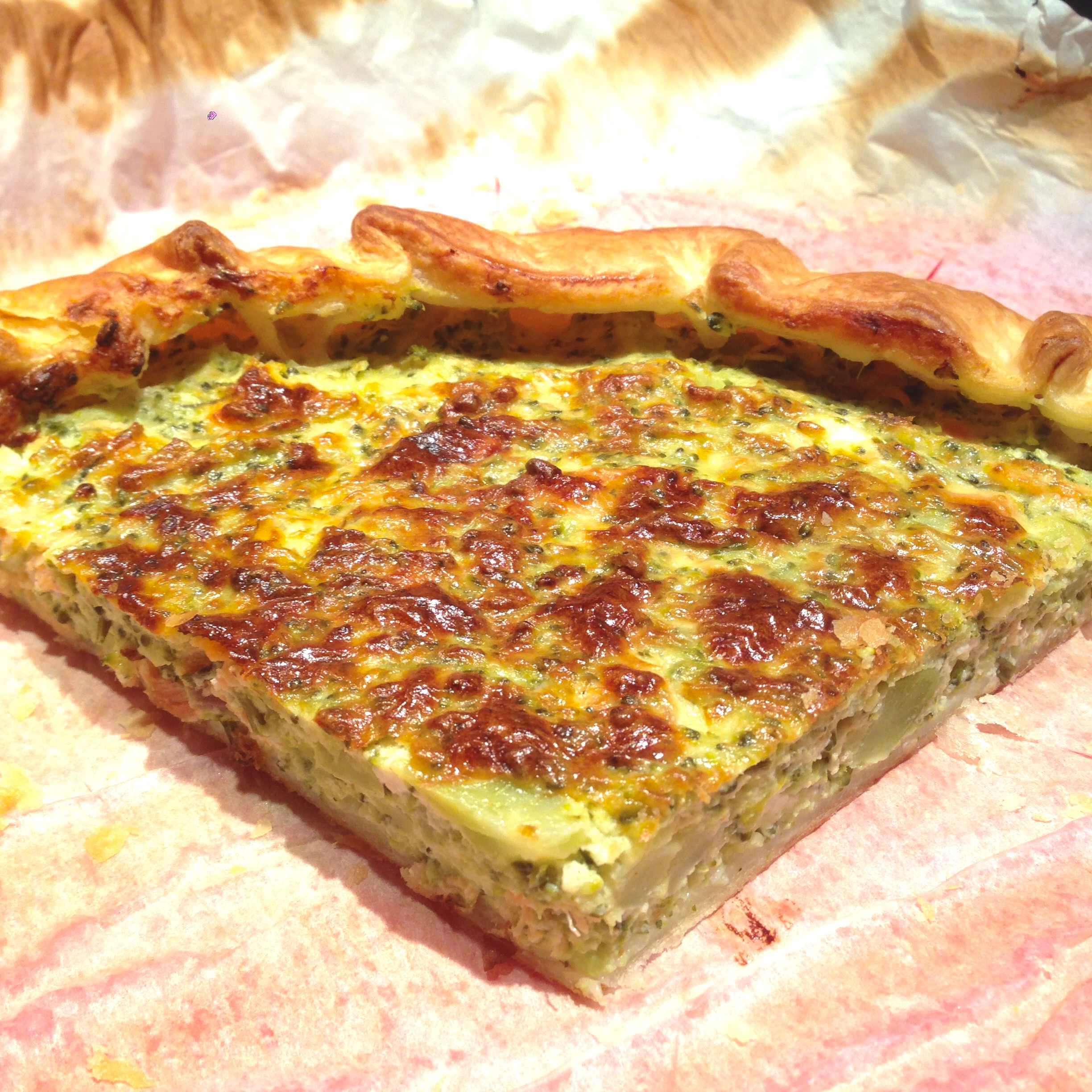 Quiche di Broccoli, Salmone affumicato e Robiola - Broccoli, Salmon and Soft Cheese Quiche