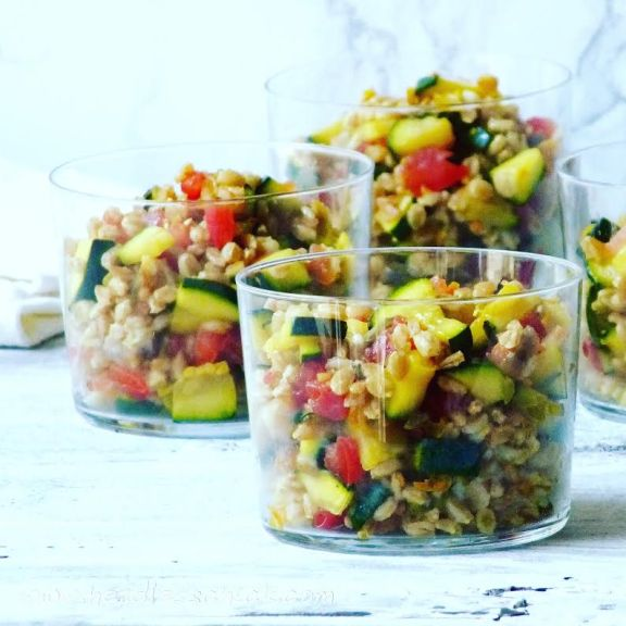 Spelt and Courgette Zucchini Salad