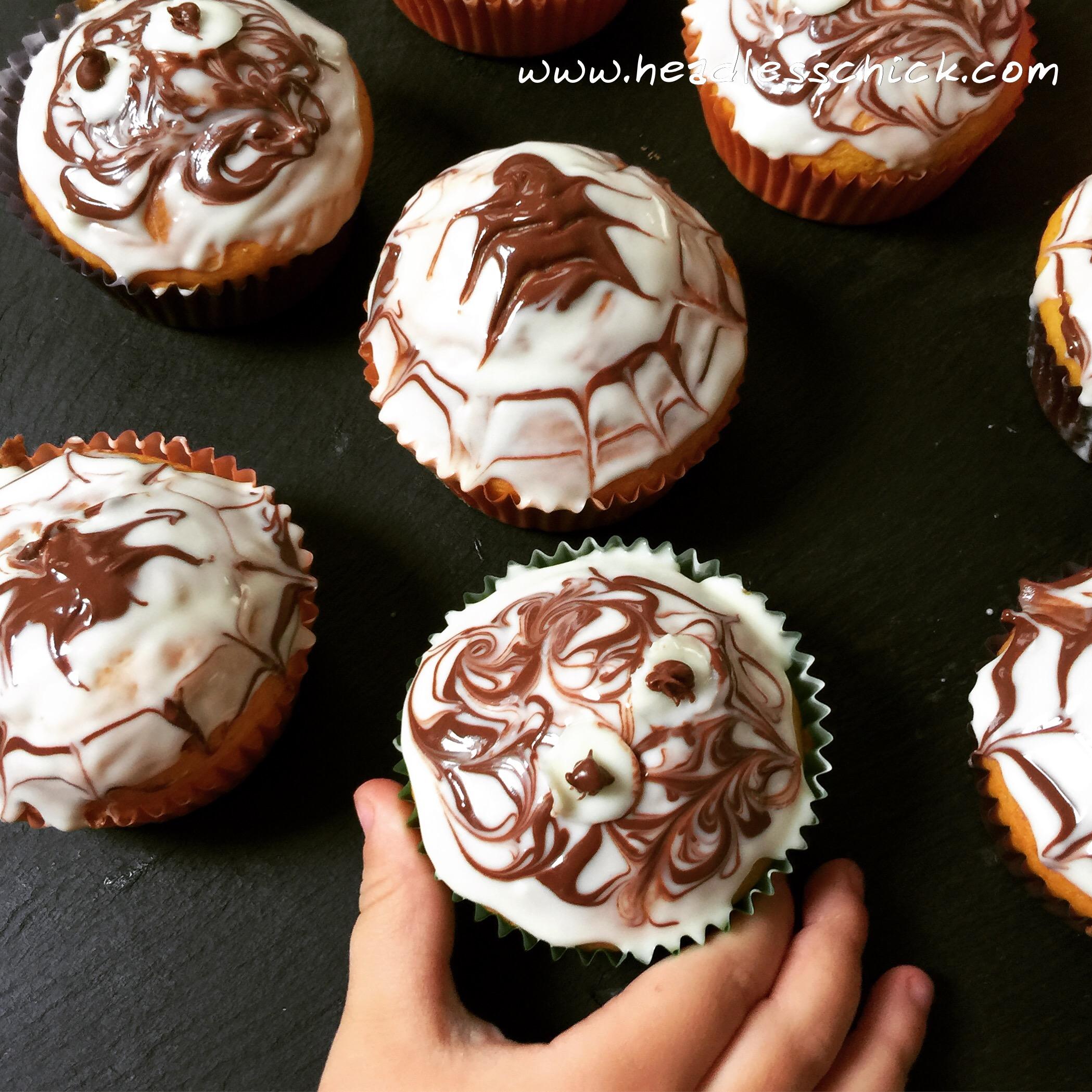 Cupcake speziati alla Zucca e Cioccolato