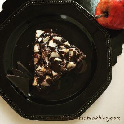 Torta Pere, Cioccolato e Mandorle senza Farina