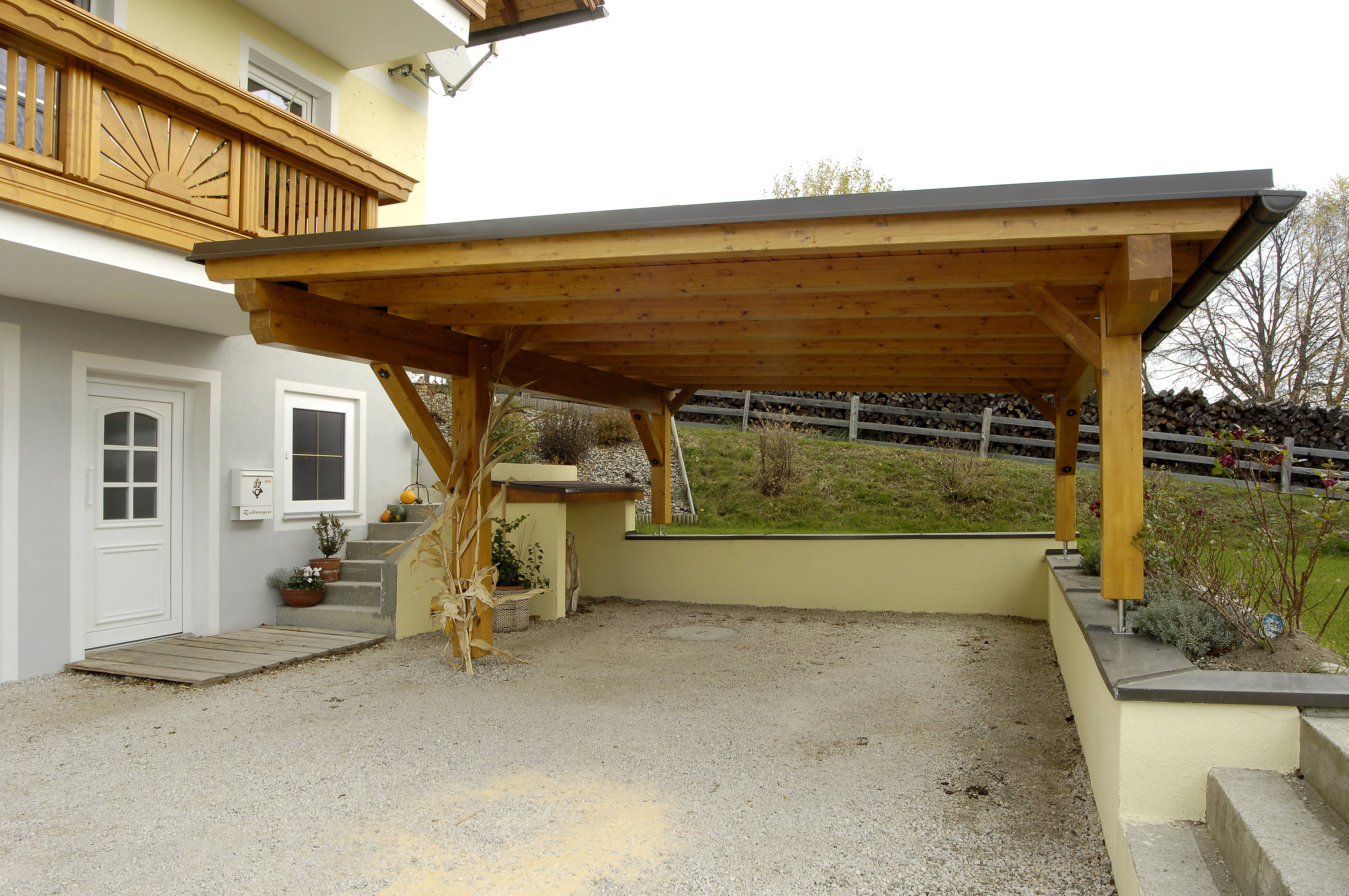 In Case Of Space Constraints, A Single Slope Carport Lean ...