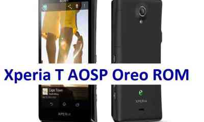 Download and install Android Oreo on Xperia T based on AOSP ROM