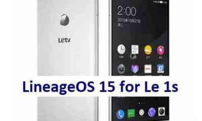 Install Android Oreo on LeTV Le 1s