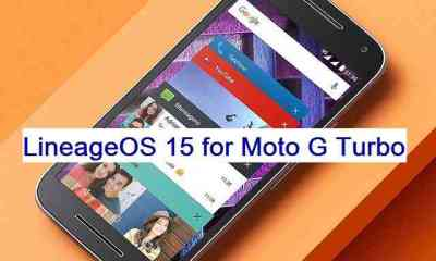 install Android oreo on Moto G turbo OS based on LineageOS 15.