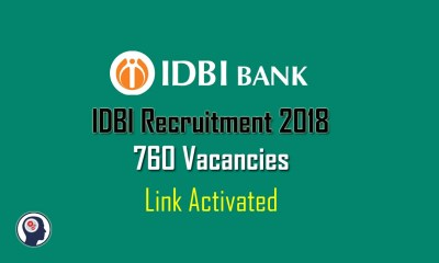 IDBI Recruitment 2018
