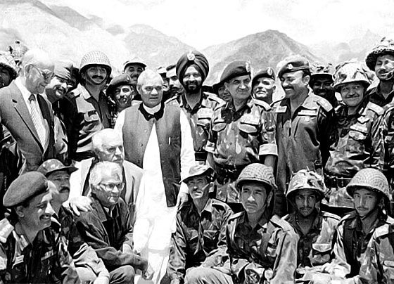 Late Prime Minister of India with the war heroes