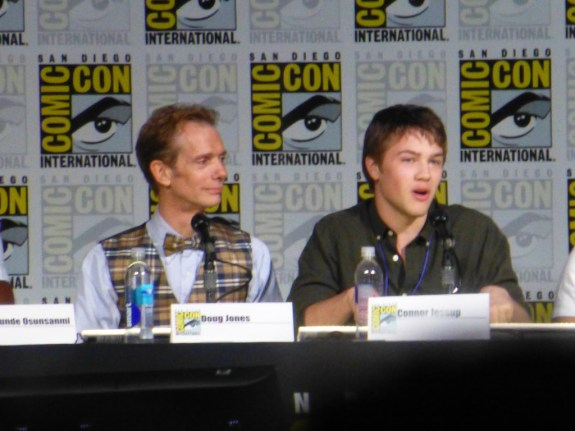 Doug Jones and Connor Jessup