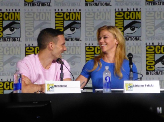 Nick Blood and Adrianne Palicki
