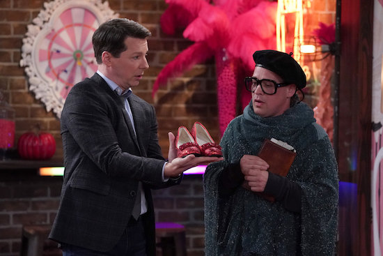 Sean Hayes as Jack McFarland, T.R. Knight as Dexter Welles in the Will & Grace episode Filthy Phil Part 2