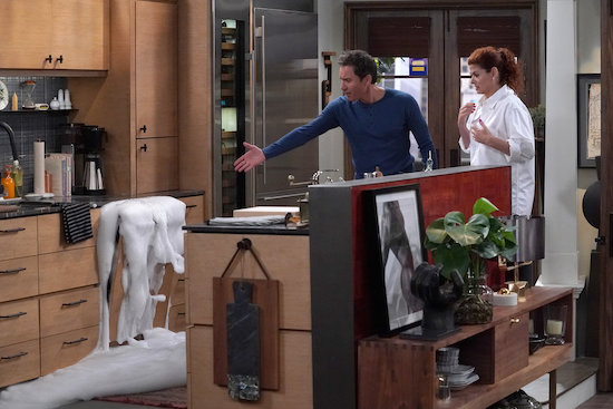 Eric McCormack as Will Truman, Debra Messing as Grace Adler in Will & Grace, We Love Lucy