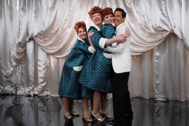 Megan Mullally as Karen Walker/Lucy, Sean Hayes as Jack McFarland/Lucy, Debra Messing as Grace Adler/Lucy, Eric McCormack as Will Truman/Ricky