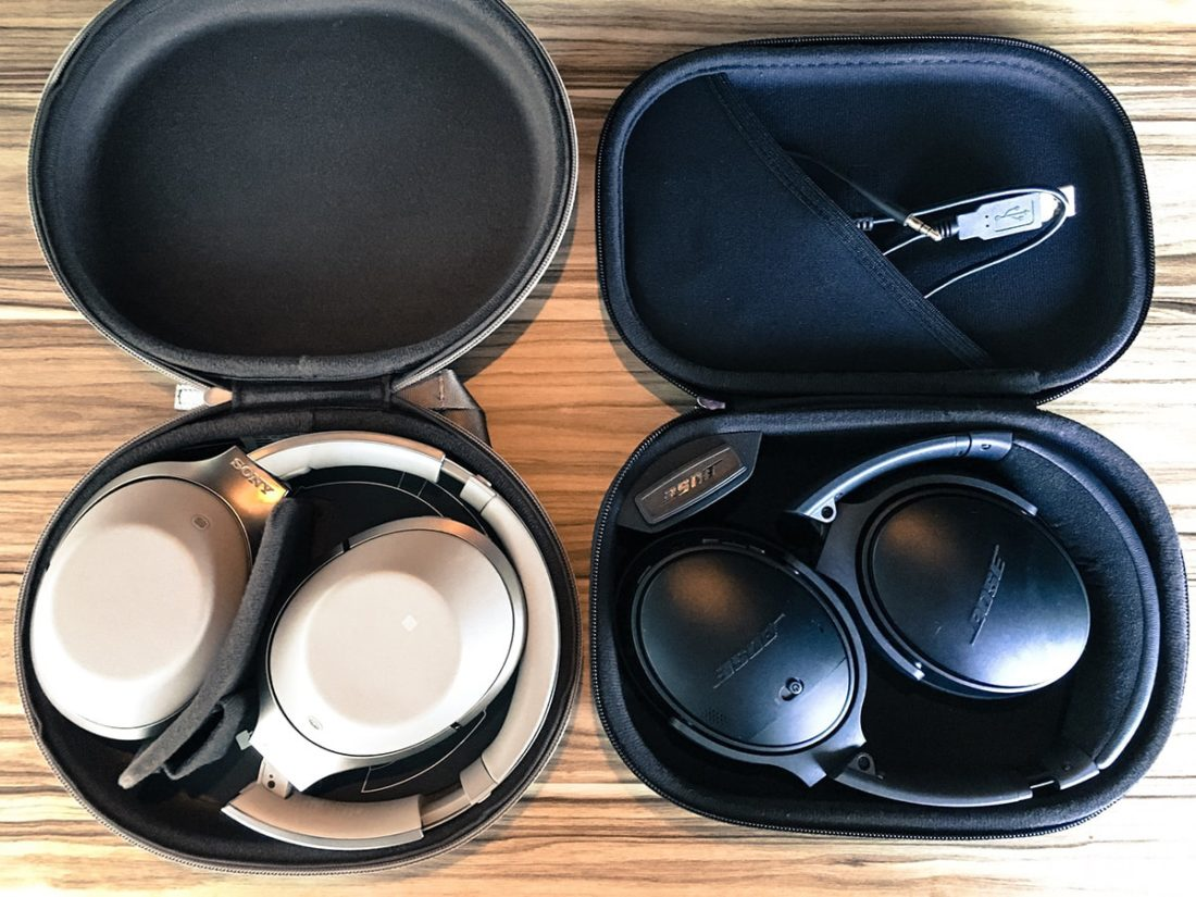 MDR-1000x Bose QC35 hard case cover