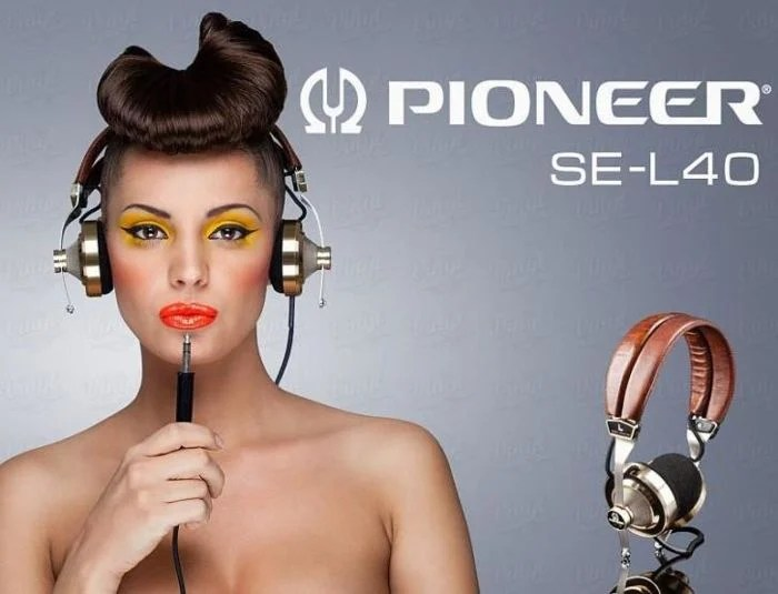 Original advertisement for the Pioneer SE-L40 headphones from Head-Fi
