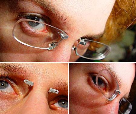 From Geekologie – Fancy having pierced glasses?