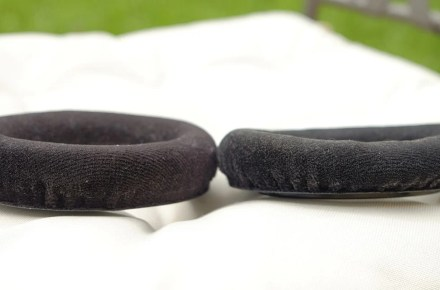 Left: slightly used pads; right: three year old pads