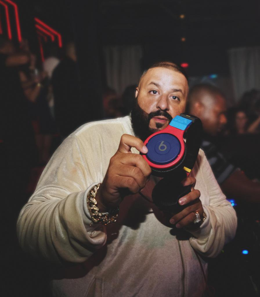 DJ Khaled wearing his custom Beats Pro
