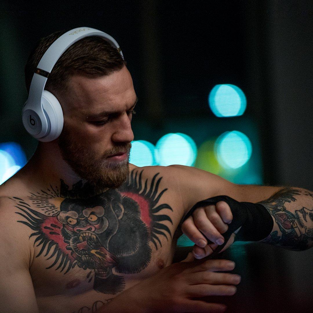 Conor McGregor wearing Beats Studio 3