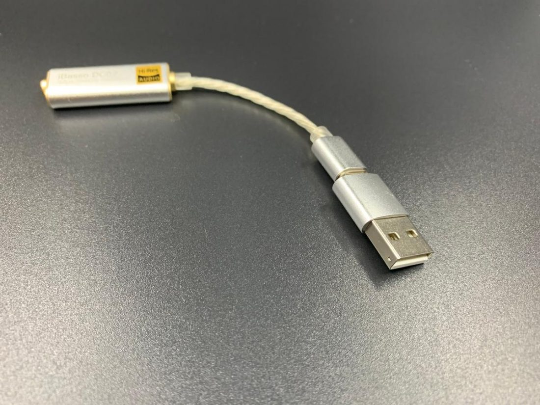 The USB Type-C to Type A adapter gives users an option to use this as a desktop DAC.