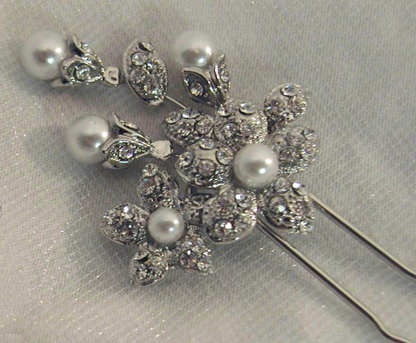 Bridal Hair Pins Bridal Hairsticks Swarovski Crystal