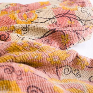 Kantha full fuzz blanket