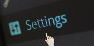 settings button wordpress