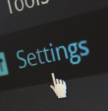 settings button wordpress