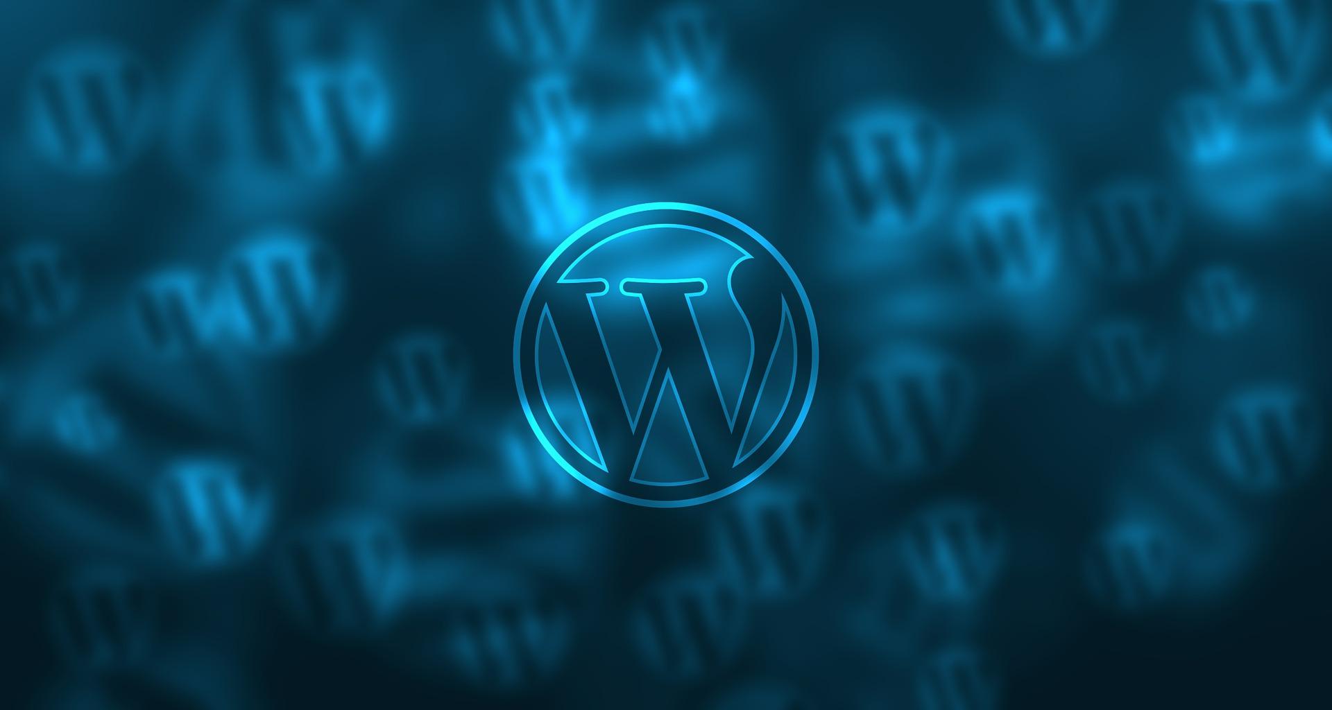 Background image wordpress - Wordpress Logo Blue Background Design