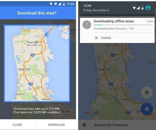 descargar mapas desde el celular con google maps