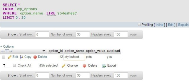 query base de datos wordpress