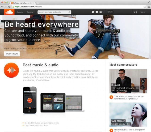 SoundCloud descarga música