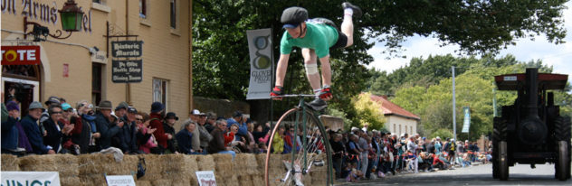 What's on in Launceston - Penny Farthing championships