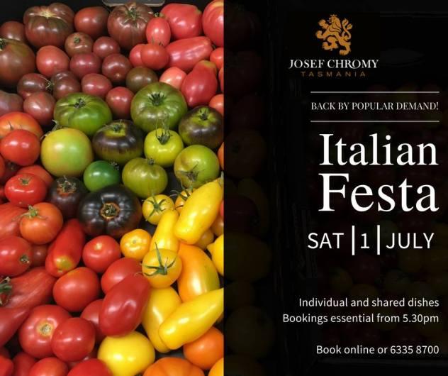 Italian Festa @ Josef Chromy Wines, Relbia, Tasmania