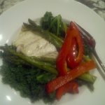 Baked Cod & Collards