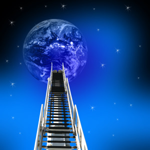 Focus on the ladder not the moon