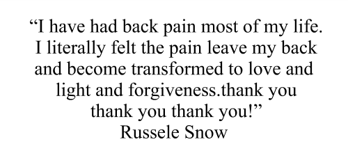 What Your Body Wants To Hear Back Pain Testimonial Russele