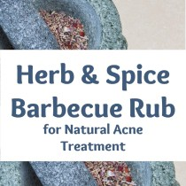healthy herb and spice barbecue rub for natural acne treatment