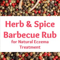 healthy herb and spice barbecue rub for natural eczema treatment