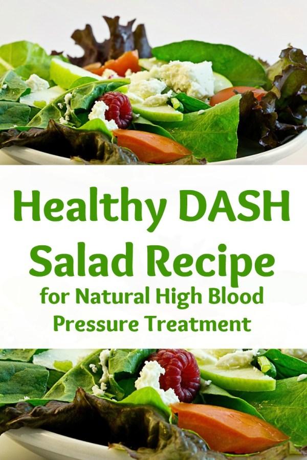 healthy DASH salad recipe for natural high blood pressure treatment