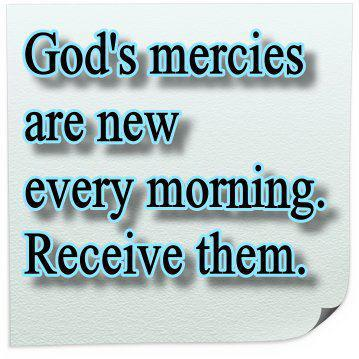 God's Mercies are New Every Morning