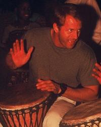 Toby Drumming in Africa