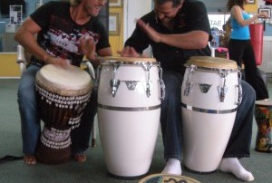 Master Diago and Toby Drumming