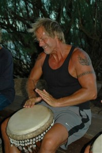 Toby drumming in Hawaii