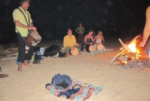 Toby Christensen Drumming at Fire
