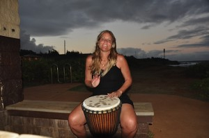 Rebecca Playing the Drum
