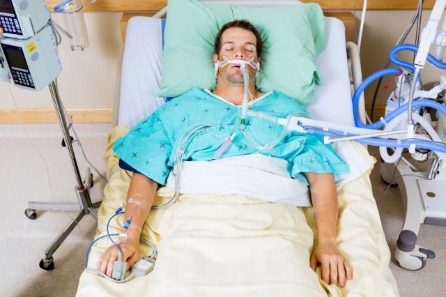 Bilder für Patienten auf Intensivbett