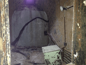 Individual cell at Eastern State Penitentiary.