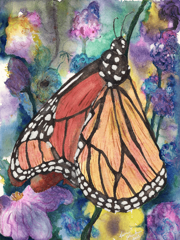 Merry Monarch painting