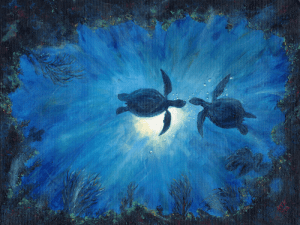 Moonlight Rendezvous painting
