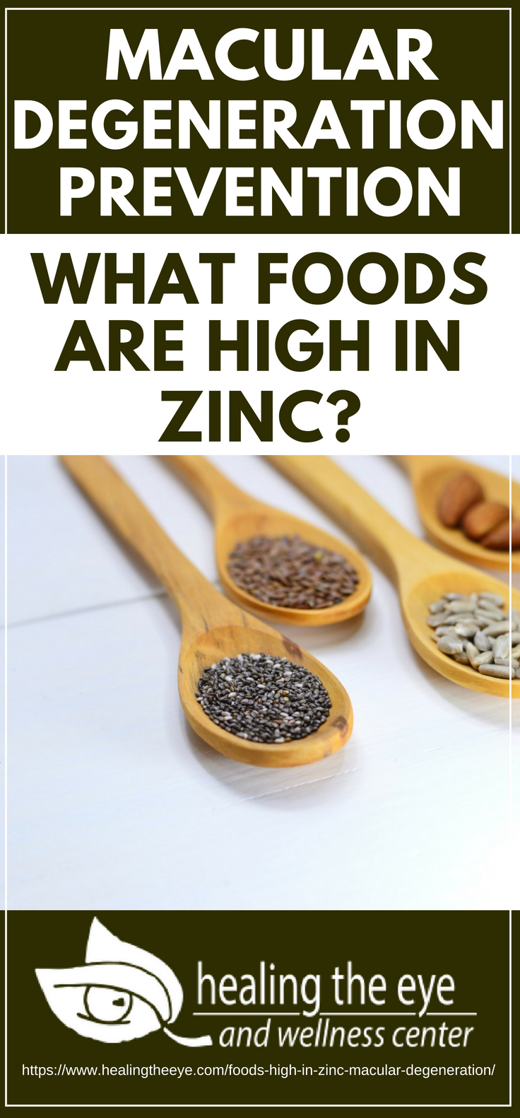 Pinterest Placard | Macular Degeneration Prevention | What foods are high in zinc?